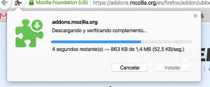 uBlock Origin, descargando